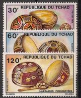 Tchad - 1976 - N°Yv. 319 à 321 - Artisanat - Neuf Luxe ** / MNH / Postfrisch - Tschad (1960-...)