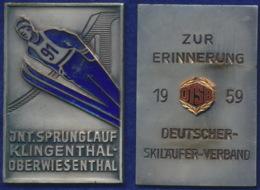 DDR Plakette Sprunglauf Klingenthal-Oberwiesenthal 1959 50x70mm Sehr Selten - [ 6] 1949-1990 : RDA - Rep. Dem. Tedesca