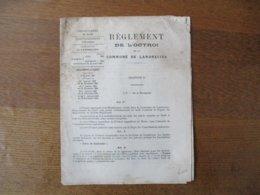 LANDRECIES REGLEMENT DE L'OCTROI DE LA COMMUNE 30 NOVEMBRE 1901 ARTICLES ADDITIONNELS 1 A 15 SUR LA BIERE - Documents Historiques