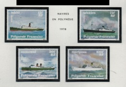 WP29  Polynésie °° 1978 124-127 Navires C:18 - Polynésie Française