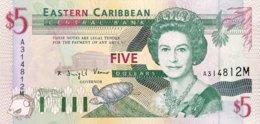 East Caribbean States 5 Dollars, P-31m (1994) - UNC - Montserrat Issue - Oostelijke Caraïben