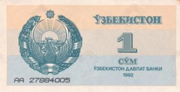 Uzbekistan 1 Sum, P-61 (1992) - UNC - Usbekistan