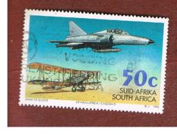 SUD AFRICA (SOUTH AFRICA) - SG 873 - 1995  AVIATION ANNIVERSARY: DE HAVILLAND & CHEETAH D JET FIGHTER    - USED - Usati