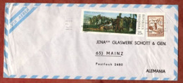 Luftpost, Todestag De Gueemes U.a., Buenos Aires Nach Mainz 1973 (79102) - Argentina