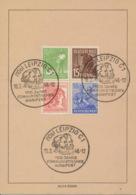 Gemeinschaftsausgaben 946,948,953,955 Auf Karte Sonderstempel Leipzig Manifest - [6] Democratic Republic