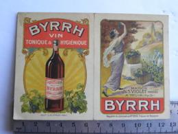 Calendrier De Poche Publicitaire BYRRH - 1924 - Maison J&S VIOLET Frères à THUIR (pyr.Or) - Calendari