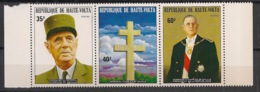 Haute Volta - 1974 - N°Yv. 304A - Tryptique De Gaulle - Neuf Luxe ** / MNH / Postfrisch - De Gaulle (General)