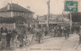MONTGERON  - Les Courses - Le Contrôle  ( Cachet Au Dos De Morisseau Au 152 Rue De Paris ) - Montgeron