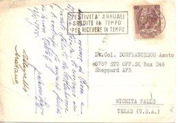 1955 Cartolina Da ROMA X USA Con Testone Da 100 L.  - Franc - 6. 1946-.. Repubblica