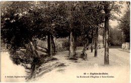 40- Enghien Les Bains - Le Boulevard D'Enghien A Saint Gratien - Enghien Les Bains