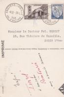 PS / Cpsm 10x15 . ANDORRE :  2 Timbres 4f Brun & 1f Bleu ( Catalogue DELAY N°s 128+129  Côte: 15 € + 15 €) - Lettres & Documents