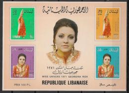 Liban - 1974 -  Bloc Feuillet BF N°Yv. 27 - Miss Universe / Georgina Rizk - Neuf Luxe ** / MNH / Postfrisch - Liban