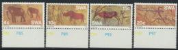 Südwestafrika 413/16 Unterrand ** Postfrisch Felsmalereien - Afrique Du Sud-Ouest (1923-1990)