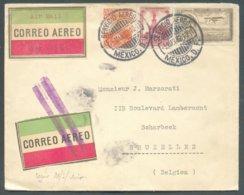 Lettre Poste Aérienne Correo Aereo Obl. Dc SERVICIO AEREO MEXICO D.F. 5 Mars 1930 Vers Schaerbeek  - 14606 - Mexique