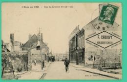 Ham - Somme - En 1921 - Rue Foy - Magasins Et Animé - - Ham