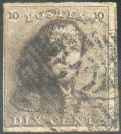 N°1 - Epaulette 10 Centimes, TB Margée Et Voisin, Obl. P.108 SOIGNIES - 14608 - 1849 Epaulettes