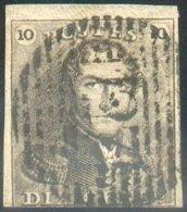 N°1 - Epaulette 10 Centimes, Court En Bas Sinon TB Margée Et Obl. P.127 VISE - 14609 - 1849 Epaulettes
