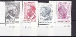 1977, Belgien, 1929/32, MNH **,  Solidarität: Persönlichkeiten. - Belgien