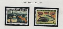 WP29  Polynésie °° 1981 163/164 Aquaculture - Unused Stamps