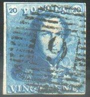 N°2 - Epaulette 20 Centimes, Court En Haut à Droite Sinon TB Margée Et Obl. P.9 AUDENAERDE Centrale - 14610 - 1849 Epaulettes