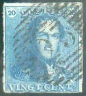 N°2 - Epaulette 20 Centimes, Court En Bas Sinon Margée Et Obl. P.23 BRUGES Centrale - 14612 - 1849 Epaulettes