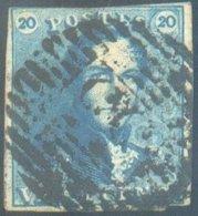 N°2 - Epaulette 20 Centimes, Court En Haut Sinon Margée Et Obl. P.35 DIXMUDE Centrale - 1461 - 1849 Epaulettes