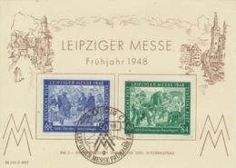 Gemeinschaftsausgaben 967/68 Auf Messe-Sonderkarte - American,British And Russian Zone