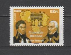 FRANCE / 2009 / Y&T N° 4408 ** : Francesco Miranda X 1 - Gomme D'origine Intacte - Unused Stamps