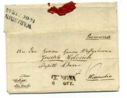 Lettera Da CREMONA Per WARASDIN 14.10.1847 - 1. ...-1850 Vorphilatelie