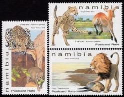 Namibia - 2019 - Large Felines Of Namibia - Mint Stamp Set - Namibie (1990- ...)