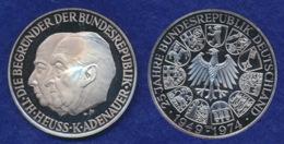 BRD Medaille Heuss/Adenauer 40mm Ag1000 25g - [ 7] 1949-… : FRG - Fed. Rep. Germany