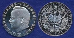 BRD Medaille Heinrich Lübke 40mm Ag1000 25g - [ 7] 1949-… : FRG - Fed. Rep. Germany