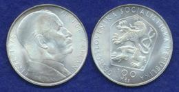CSSR 100 Kronen 1976 Kaplan Ag 15,2g - Tschechoslowakei