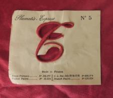 Lettre Ancienne C Majuscule, Plumétis- Express, Lettre à Broder Sur Tissus Drap Ou Autres - Vintage Clothes & Linen