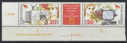 DDR 3096/97 Dreierstreifen Eckrand Mit Druckvermerk ** Postfrisch - [6] Democratic Republic