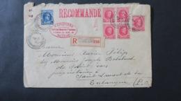 Lettre Recommandé De Bruxelles 1926 Belgique Pour St Laurent De Salanque - Belgio