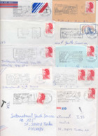 France Reunion 1980s 45 Different Postmarks On Covers To Finland - Autres