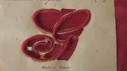 Lettre Ancienne G Majuscule, Plumétis- Express, Lettre à Broder Sur Tissus Drap Ou Autres - Vintage Clothes & Linen