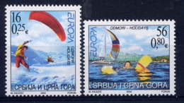 SERBIE & MONTENEGRO - 3035/3036** - EUROPA - Serbie