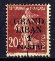 GRAND LIBAN - 5° - TYPE SEMEUSE - Oblitérés