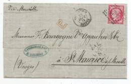 """- BFE EGYPTE - ALEXANDRIE GC.5080 S/TP Cérès N°57b+Càd T.15+""""PD"""" Rouge - 1873 - 1871-1875 Ceres"""