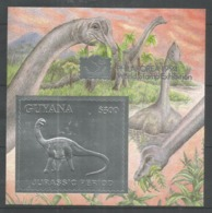 GUYANA - MNH - Animals - Prehistorics - Dinosaurs - Silver - Stamps