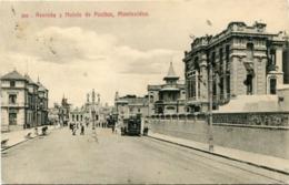 AVENIDA  HOTELES DE POCITOS, MONTEVIDEO. URUGUAY POSTAL CPA CIRCULATED 1913 TO BUENOS AIRES. -LILHU - Uruguay