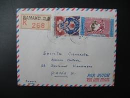 Mali Bamako   Lettre Recommandée N° 268 - 1970   Pour La Sté Générale En France  Bd Haussmann Paris - Mali (1959-...)