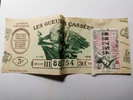 France, Les Gueules Cassées 1961 - Loterijbiljetten