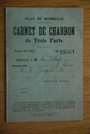 Rationnement - Carte De Charbon Marseille - Documents Historiques