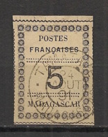 Madagascar - 1891 - N°Yv. 8 - 5c Noir Sur Vert - Signé Calves - Oblitéré / Used - Usados