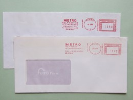 Italia, Commercio, METRO, Self Service All'ingrosso, 2 Affr. Mecc. Diverse,  Ema, Meter, Affrancatura Meccanica - Machine Stamps (ATM)