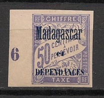 Madagascar - 1896 - Taxe TT N°Yv. 6 - 50c Lilas - Petit Bord De Feuille - Neuf Luxe ** / MNH / Postfrisch - Madagaskar (1889-1960)