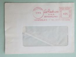 "Italia, ""La Bodonia"" Casa Editrice, Carta, Stampa, Affr. Mecc., Meter, Ema, 1974 (frammento) (DZ) - Machine Stamps (ATM)"